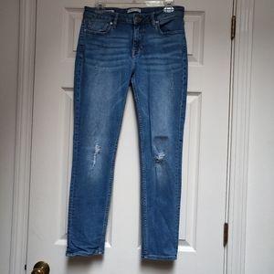 Vigoss Thompson Tomboy Distressed Jeans 29 Skinny